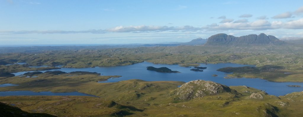 View across Assynt, Sutherland, Scotland